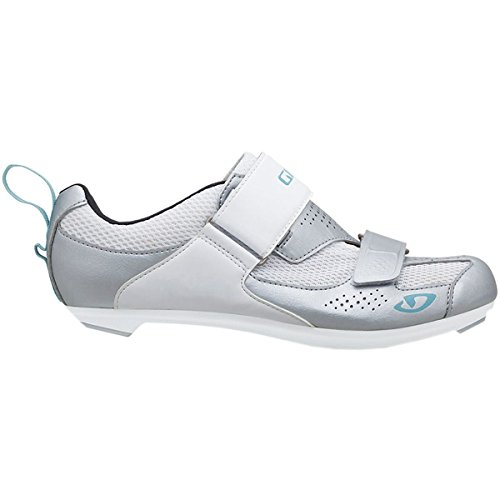 Giro Women's Flynt Triathlon Cycling Shoes Silver/White/Milky Blue - 41 (Womens Triathlon Bike)