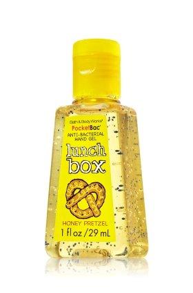 Lunch box Bath body works anti bacterial hand gel pocketbac 1 oz Honey pretzel