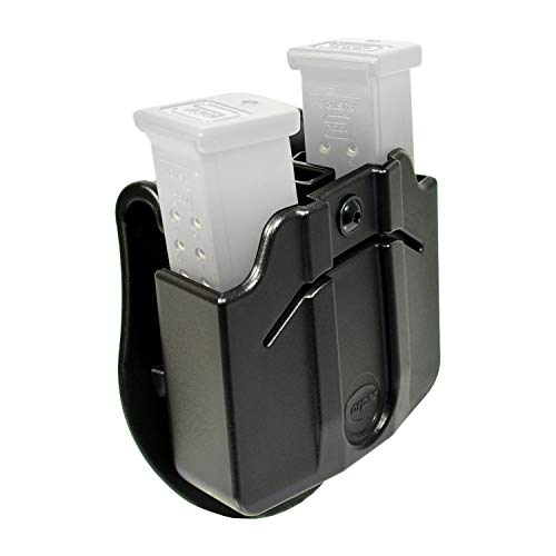 Wear Paddle Holster - Orpaz Magazine Holster Holds Two Double Stack 9mm Polymer Magazines, Fully Adjustable for Rotation & Retention