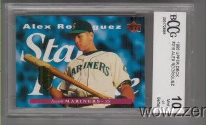 1995 Upper Deck #215 Alex Rodriguez Star Rookie BECKETT 10 MINT Yankees Shipped in Ultra Pro Graded Card Sleeve to Protect it ! ()