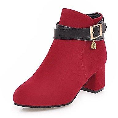 de punta Leather 4 Zapatos de de de UK2 RTRY con Nubuck 2 redonda Imitación Invierno Botines tacón moda Botines Otoño 5 EU34 Hebilla mujer Botas Botines US4 CN33 5 grueso Botines para perla wq8IFcFa