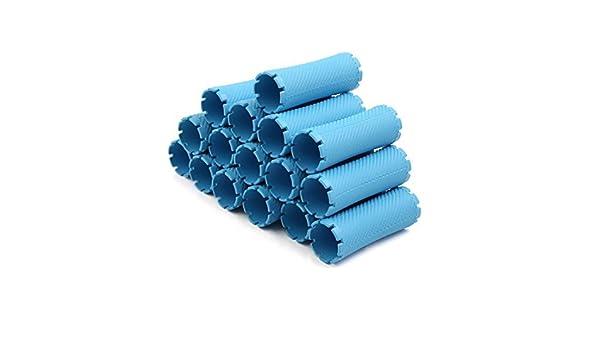 Amazon.com: 16pcs 8.7cm x 3.2cm eDealMax Azul plástica mágica de Los bigudíes de Pelo Círculo Tubo Estilo Herramientas: Health & Personal Care