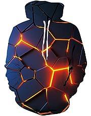 ALISISTER Unisex 3D bedrukte lichtgewicht hoodie voor mannen lange mouwen Hooded Pullover Sweatshirts