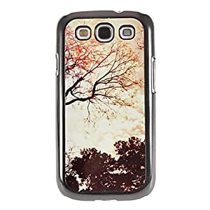 TOPQQ Sunny Sky Pattern Mirror Smooth Back Hard Case with HD Screen Film 3 Pcs for Samsung Galaxy S3 I9300