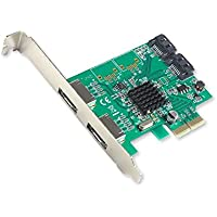 Simply Silver - PCI-E 2 Interface 4-Port SATA Controller Card w/88SE9230 Chipset