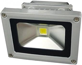 Proyector LED foco exterior 10w 20w 30w 40w luz fría 4200K (10 ...