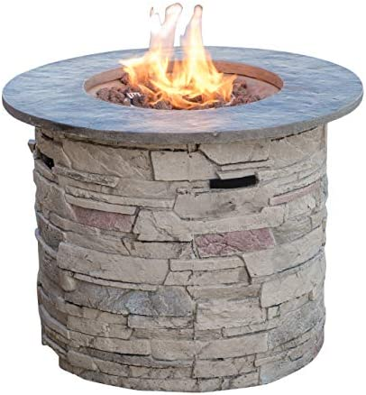 Christopher Knight Home 296659 Rogers Propane Fire Pit Round 32″ Top-40,000 BTU