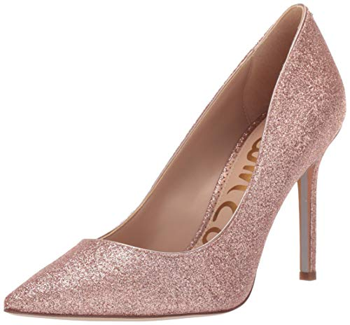 (Sam Edelman Women's Hazel Pump, Rose Gold Mini Glitter, 8.5 M US)