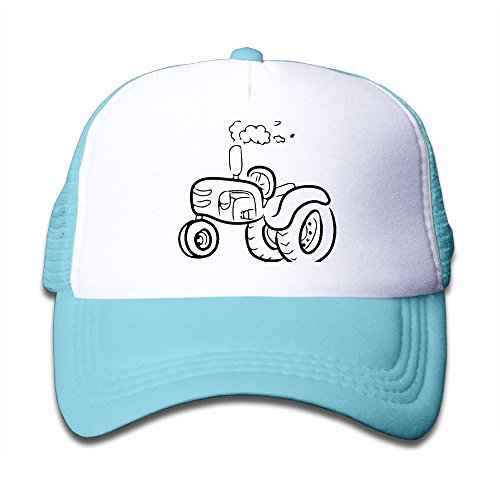 Youth Kid's Funny Tractor Machine Embroidery Snapback Hat (Cars Embroidery Machine)