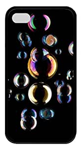slim iphone 4 cases Colorful bubbles TPU Black for Apple iPhone 4/4S
