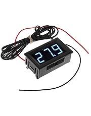 Termometro - TOOGOO(R) DC 5-12V -50-110 Celsius Indicador de temperatura digital Termometro Detector de temperatura del refrigerador con la sonda, Azul