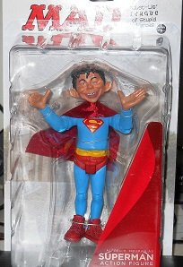 MAD Alfred E. Neuman as Superman Figure // Just-Us League of Stupid Heroes ** DC Direct
