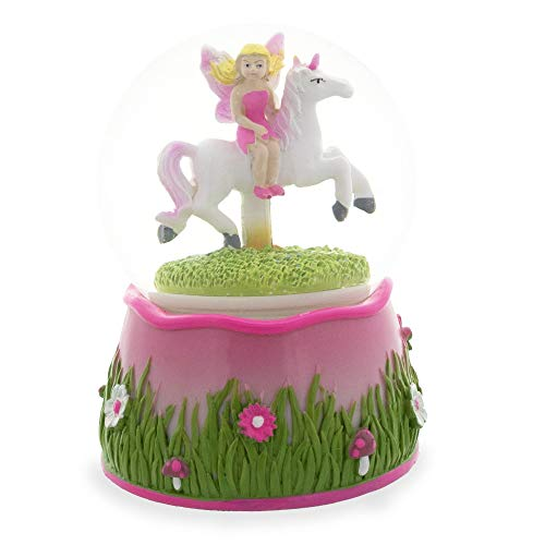 BestPysanky Fairy Riding Unicorn Musical Snow Globe