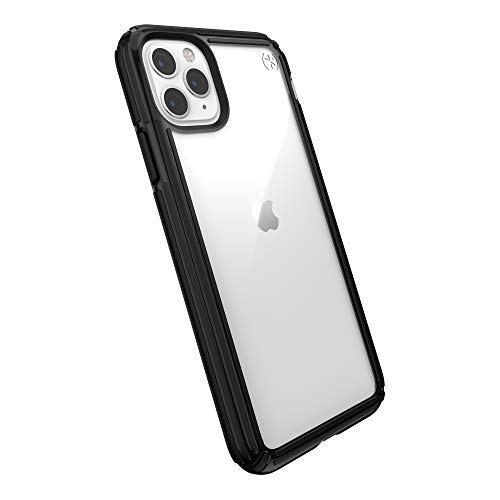 Speck Products Compatible Phone Case for Apple iPhone 11 Pro Max, Presidio V-Grip Case, Clear/Black