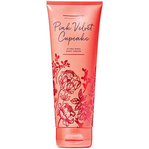 Bath and Body Works Pink Velvet Cupcake Body Cream 8 Ounce Fall 2019 Collection