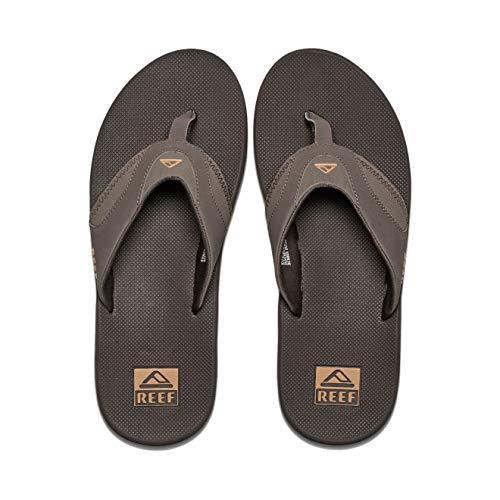 Reef Men's Fanning Flip Flop, BROWN/GUM, 11 D - Medium Beer Flip Flops Sandal