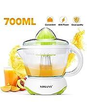 Electric Juicer Squeezer Machine Orange Lemon Citrus Fruit Press-Juice Extractor Transparent Scale Marking