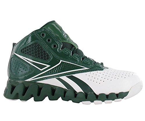 Reebok Zig Pro Future Basketball Shoe White/Forest hzhV7u