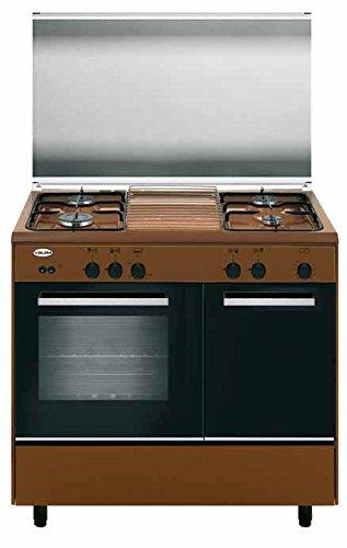 Glem Gas Cucina a gas forno a gas 4 Fuochi cm 90x60con cl. A+ ...