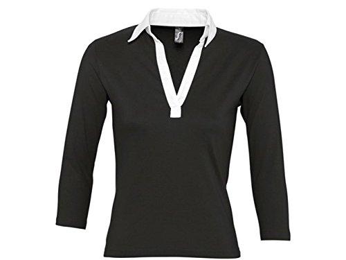 ATELIER DEL RICAMO - Camisa deportiva - para mujer Negro y amarillo