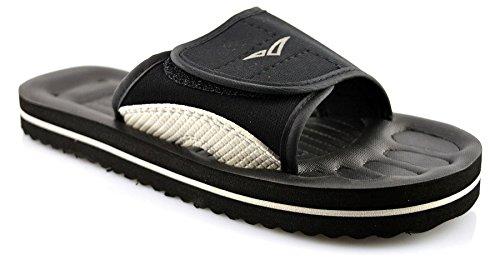 para mujer Sandalias Para Toque Ducha Playa Negro niños para fijación de Mule hombre Señoras Zapatos Tamaño p5qnxIwAC