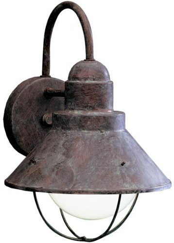 - Kichler 9022OB Seaside Outdoor Wall 1-Light, Olde Brick