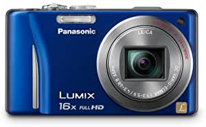 Panasonic Lumix DMC-ZS10 14.1 MP Digital Camera with 16x Wide Angle Optical Image Stabilized Zoom and Built-In GPS Function (Blue)
