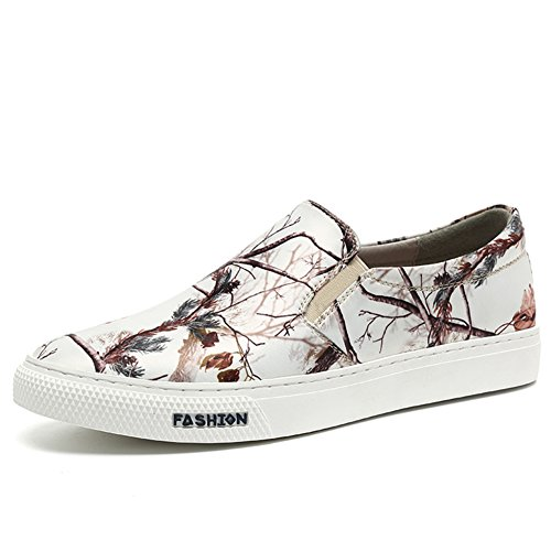 Herren Freizeitschuhe Dress Jugendliche Outdoor Mode Sport Schuhe Rutschen Schwarze Persönlichkeit Weiß