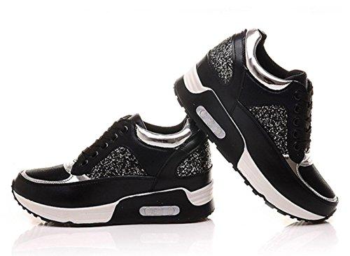 Mei Fall Damen Sport Schuhe hochhackigen Matsushita Schuhe Slim Casual Schuhe Lace Sneakers, US7,5/EU38/Vereinigtes königreich5,5/CN38