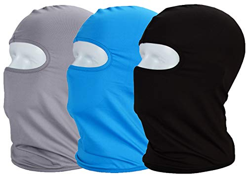 Face Mask UV/Sun Dust Protection Balaclava Scarf Full Face Cover Neck Gaitrer Breathable Thin Elastic Fabric Very Practical for Outdoor Sports Work Outside Fishing Hiking Cycling 3pack Gift