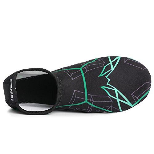 Aqua Shoes for Unisex Exercise Skin Aerobics 02green Water Socks Barefoot Pool Water SENFI wfXqUxfZ