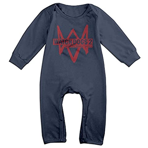 VanillaBubble Watch Dogs For 6-24 Months Newborn Geek Tshirt Navy Size 12 Months (Peppa Pig George Boots)