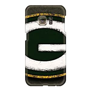 PhilHolmes Samsung Galaxy S6 Scratch Resistant Hard Phone Case Support Personal Customs HD Green Bay Packers Image [VlN1058vsOG]