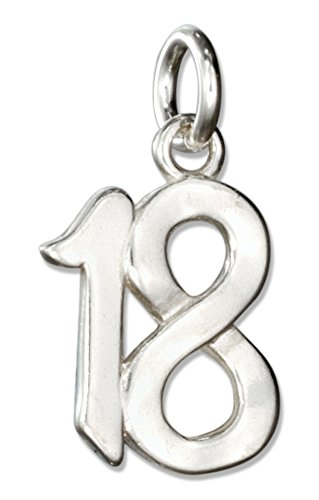 "Sterling Silver Number ""18""..."