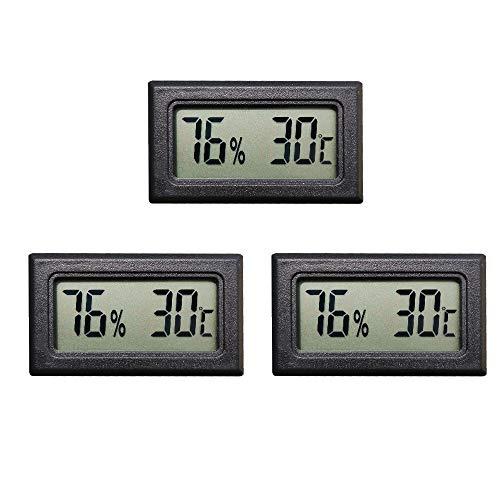 🥇 Thlevel Mini Termómetro Higrómetro Digital Interior de Temperatura y Humedad