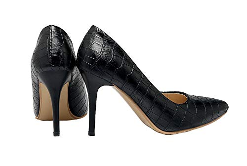 Unie Noir Légeres Gmbdb012045 Femme Chaussures Talon À Agoolar Haut Couleur wzSqExOf