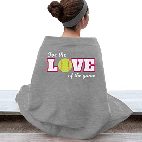 Customized Girl The Love of Softball: Gildan DryBlend Stadium Blanket