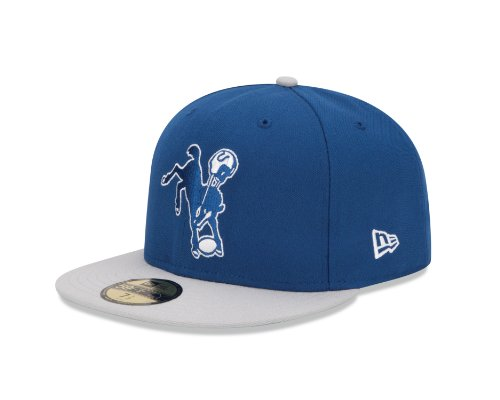 NFL Baltimore Colts Historic Logo 59Fifty Fitted Cap, Blue/Silver, 6 7/8