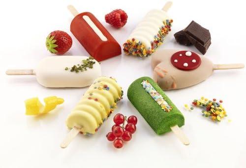 Añadiendo al carrito...Añadido a la cestaNo añadidoNo añadidoSilikomart GEL01MB MINI CLASSIC  - Mini moldes de congelador para helados y aperitivos (silicona, se incluyen 50 soportes de madera), diseño ovalado
