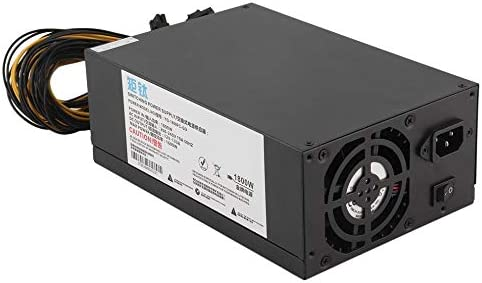 Pukido High Efficiency 1800W Server PSU Power Supply 6PIN Mining Machine Power Supply For Antminer S7 S9 A6 A7 L3 R4 – (Plug Type: EU)