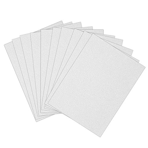 Craftwork Cards - ULTNICE 10pcs Glitter Cardstock Paper Sparkle A4 Card for Diy Craftwork