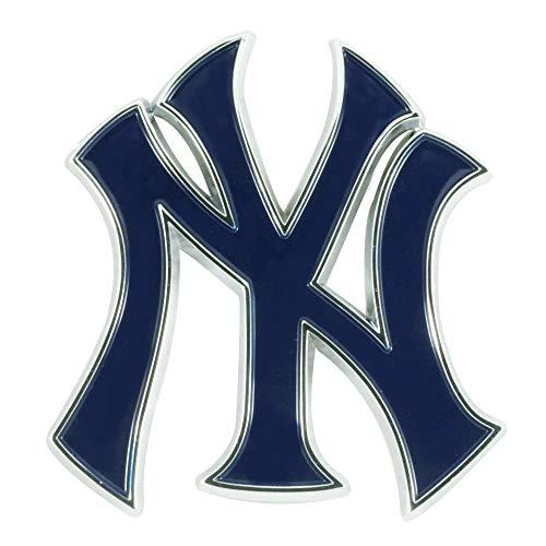 SLS FANMats New York Yankees Premium Solid Metal Color Raised Auto Emblem Decal ()