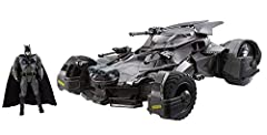 Prepare for the next level of RC play with authentic, true-to-movie battle action in this Ultimate Justice League Batmobile! The vehicle's cockpit has a built-in camera that transmits the driver's POV to a smart phone for a thrilling, front s...