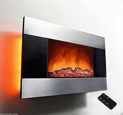 AKDY 36 inch Wall Mount Modern Space Heater Electric Fireplace Tempered Glass W/Remote Control AX-510DLB