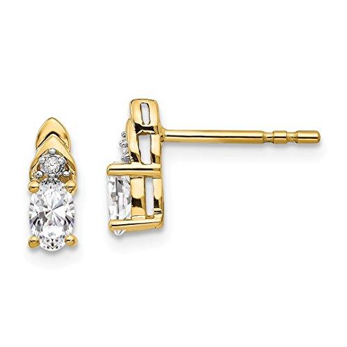 ond White Topaz Post Stud Earrings Drop Dangle Birthstone April Set Style Fine Jewelry For Women Gift Set ()