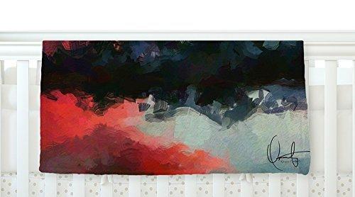 KESS InHouse Oriana Cordero Montserrat Pink Black Fleece Baby Blanket 40 x 30 [並行輸入品]   B077Z4HNW5