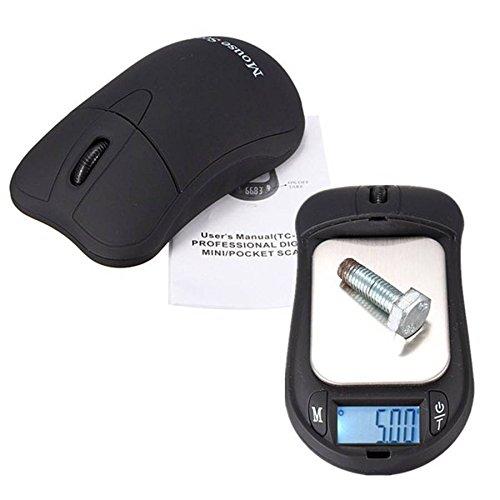 ELEGIANT Professional 200g 0.01g Mini Digitalwaage Taschenwaage Maus geformte Schmuckwaage Feinwaage Goldwaage Briefwaage Schmuck Gramm g/oz/tl/gn/ozt/dwt/ct