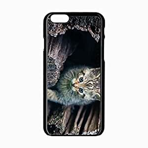 iPhone 6 Black Hardshell Case 4.7inch peek striped log Desin Images Protector Back Cover