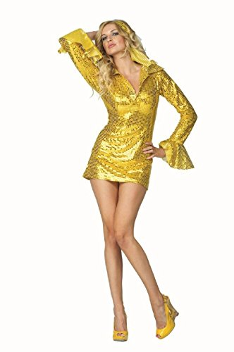 70s Fancy Dress Costumes Ideas (OvedcRay 1970S 60'S 70'S Disco Fever Sequin Dress Hippie Retro Go Go Girl Woman Costumes)