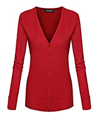 ACEVOG Women Classic Cardigan V-Neck Button Down Knitwear Top Sweater